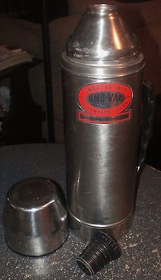 Uno-Vac Stainless Steel Metal Thermos Unbreakable 4 Cup Capacity Made in USA