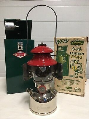 1958 Coleman 200 Lantern Red and Nickel. Gorgeous.