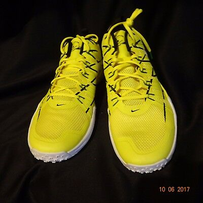 Nike Lunar TR1 OREGON DUCKS Football Turf Shoes TEAM ISSUED Size US Men's  18 NEW