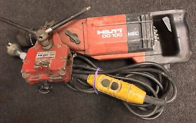 Hilti model DD-100 Core drilling portable machine + atachmt Used Cheap! (X32929)
