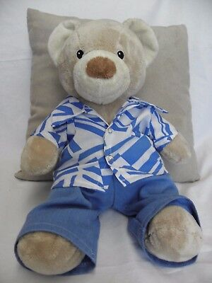 Clothes to fit 15inch Pumpkin Patch teddy boys shirt and jeans set build a bear