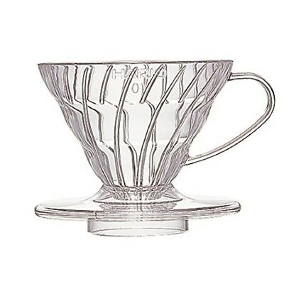 Hario V60 Plastic Coffee Dripper (Size 01, Clear) VD-01T Free Shipping