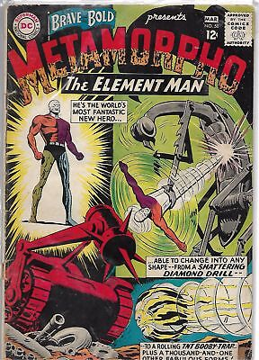 The Brave & The Bold #58 DC 1966 Silver Age Comic VG+/FN- (2nd Metamorpho App.)
