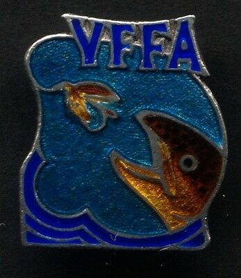 Victorian Fly Fishing Association Sterling Silver Badge Circa 1930s