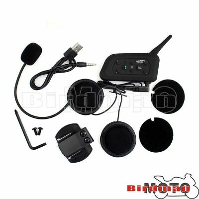 Headphone Bluetooth V6 Motorcycle Riders Helmet Intercom Headsets 1200M Wireless
