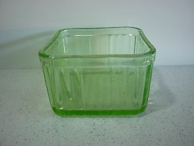 Vintage  Depression Glass Butter Keep Container  Dish