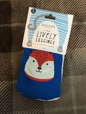 BNWT Joules Baby Boys Lively Long Johns Leggings 0-6 Months 2 Pack