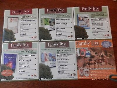 6 Family History software CDs