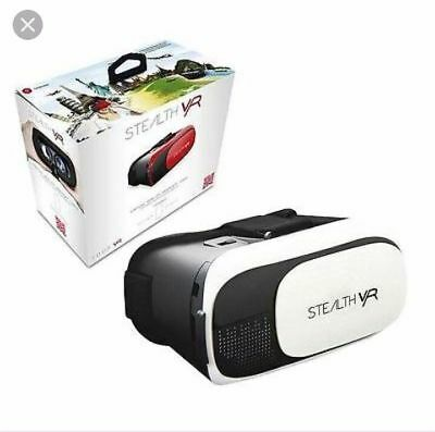 STEALTH VR50 WHITE VR MOBILE HEADSET FOR ANDROID, SMART PHONES & iOS COMPATIBLE