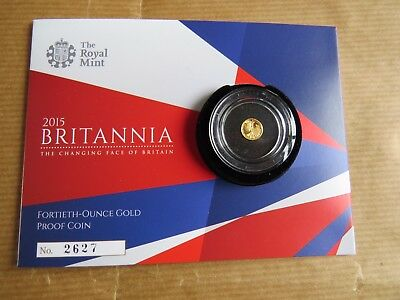 The Britannia 2015 Fortieth-Ounce Gold Proof Coin