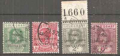 Uk Togo Anglo-French Occupation First Issue Very Fine Used Condition 2 Scans