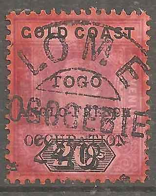 UK TOGO RARE 20Shg ANGLO-FRENCH OCCUPATION FIRST ISSUE VERY FINE USED CONDITION