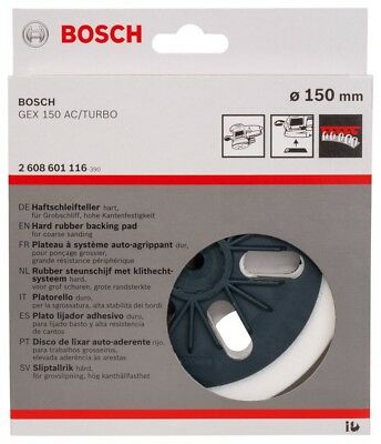 Bosch Schleifteller 150 mm Hard 2608601116 GEX 150 AC / Turbo, Gex 125 - 150 AVE