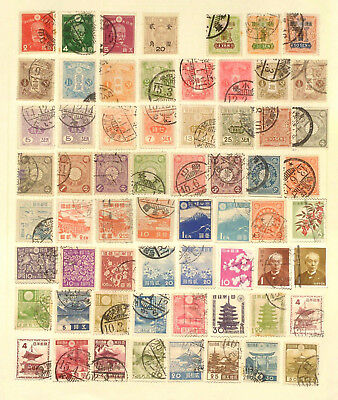 Good selection of used stamps from Japan