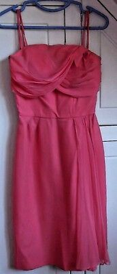 ALICE EDWARDS 'Italians' gen vintage 1950s pink chiffon cocktail wiggle dress S