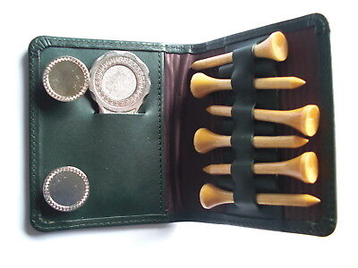 David Linley Leather Wallet of Golf Tees , Ball Markers and Pitch Mark Repairer