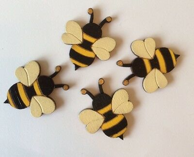 wooden bumble bee wooden embellishment card making