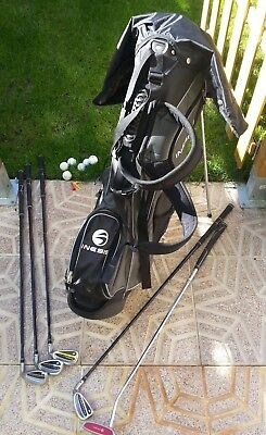 Equipo De Golf. Carro Bolsa Con 5 Palos. Años 90. Golf Equipment.