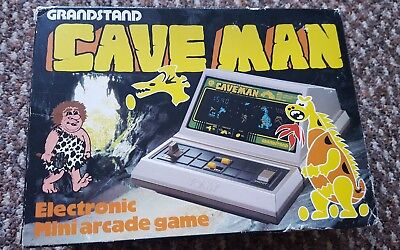 Grandstand Caveman Electronic Mini Arcade Game in original box