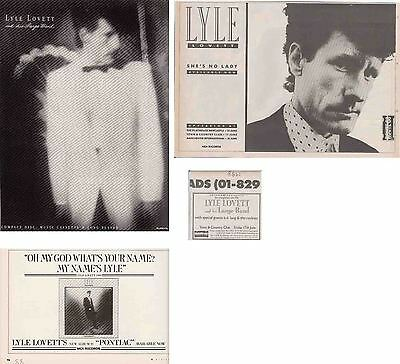 LYLE LOVETT : CUTTINGS COLLECTION -adverts-