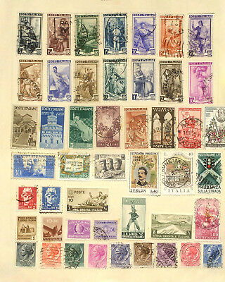 Two pages of mint & used stamps from Italy