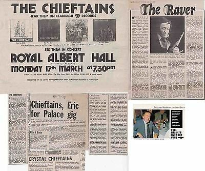THE CHIEFTAINS : CUTTINGS COLLECTION -advert etc-