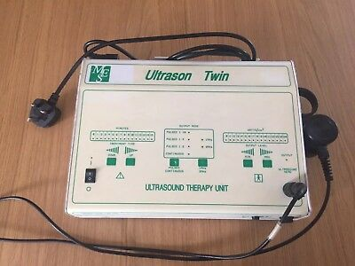 Ultrason Twin Professional Physiotherapy Ultrasound Therapy Machine 1 and 3 MHz