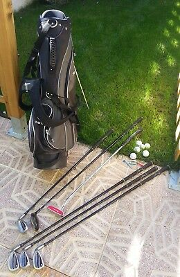 Equipo De Golf. Carro Bolsa Con 6 Palos. Años 90. Golf Equipment.