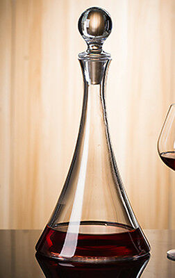 Capacity 1000ML Transparent Crystal Glass Red Wine Decanter Container Glassware#