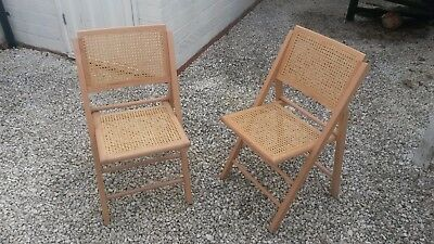 Pair Of Folding Chairs  Wooden Garden Furniture