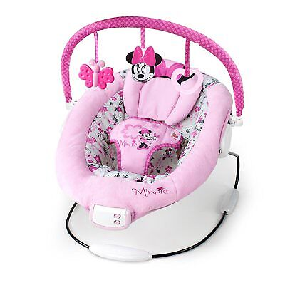Disney Baby Minnie Mouse Delight Bouncy Girl Pink Basket Seat Swing Infant Chair