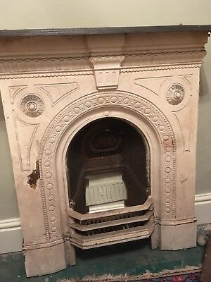 Cast Iron Fireplace.  In good condition and very pretty.