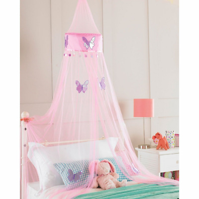 Childrens Girls Bed Canopy Mosquito Fly Netting Net 30x230cm - Pink Butterfly