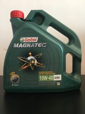 Castrol Magnatec 10W-40 Part-Synthetic Engine Oil ACEA A3/B4 10W40 4 Litres 4L