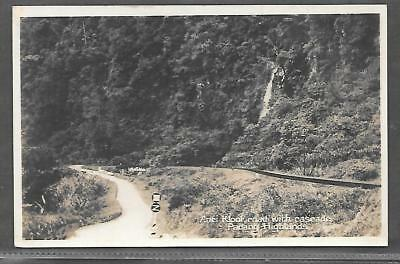 MALAYSIA/SINGAPORE PRINTED POSTCARD OF ANEI KLOOF RD with CASCADE, PADANG