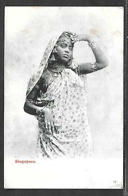 Malaysia/singapore Printed Postcard Of Indian Woman.
