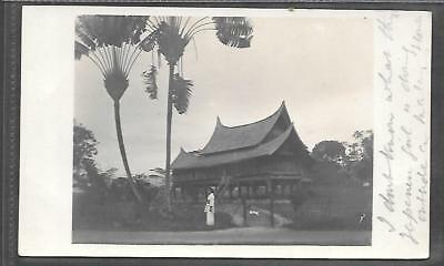 Malaysia/singapore Printed Postcard Of House In Serembam