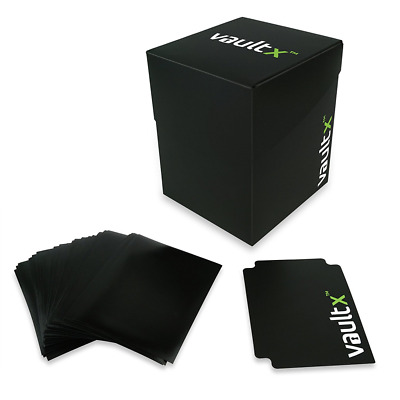 Vault X ® Deck Box and 150 Black Card Sleeves - Large Size for 120+ Sleeved Card