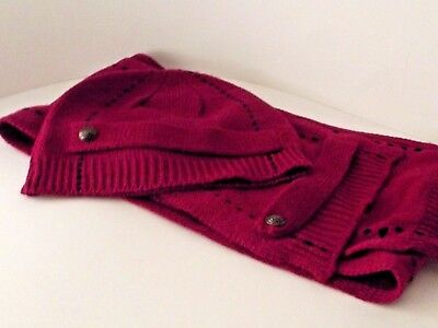 Ladies knitted beanie hat and scarf set