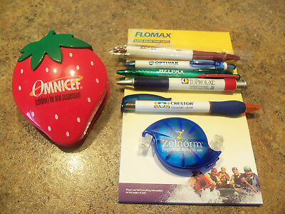 LOT of  8 Drug Rep Pharmaceutical Promo Items Pens ~ Magnet ~ Phone Ext & More