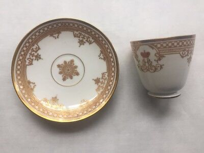 Russian Cup And Saucer Imperial Faktory St.petersburg Alexander 2.