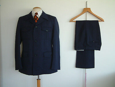 """1970's SAFARI SUIT..FLARED TROUSERS..40"""" x 34""""..70's..DISCO..GREAT CONDITION"""