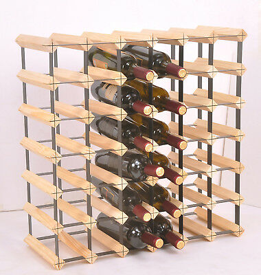 42 Bottle Timber Wine Rack - Complete Wooden Wine Storage System