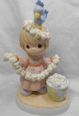 "Precious Moment Figurine  "" Things are Poppin at Our House This Christmas """