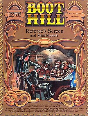 Boot Hill Role Playing GameReferee's Screen + Mini Module (WildWest) TSR 6701