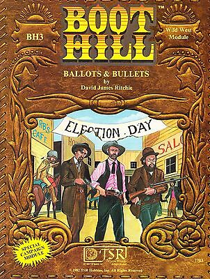 Boot Hill Role Playing Game : Ballots & Bullets BH3 (WildWest) TSR 7703