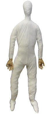 Halloween LifeSize Poseable DUMMY FULL SIZE WITH HANDS Prop Haunted House NEW