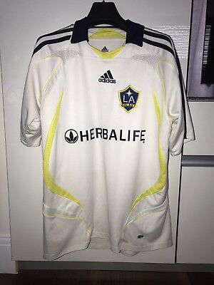 LA Galaxy 2007 Adidas Home Shirt Beckham #23 Size Medium Good Condition.