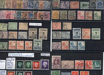 #349 Neds Indies to Indonesia misc on 19x cards & 8x scans