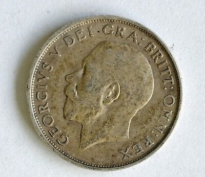 1911 George V sterling silver shilling coin - British Silver Coin - A41
